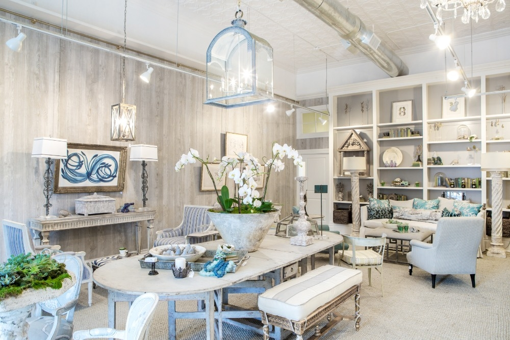 Kristin Mullen's eponymous Snider Plaza shop in Dallas, Texas features home decor, art, accessories and one of a kind pieces, along with custom upholstery and design services.